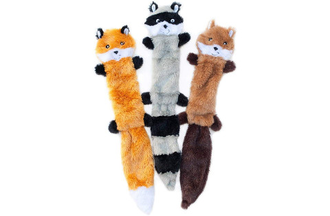 Zippypaws Skinny Peltz Squeaky Plush Dog Toys